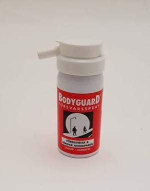 Försvarsspray Bodyguard Orginal red