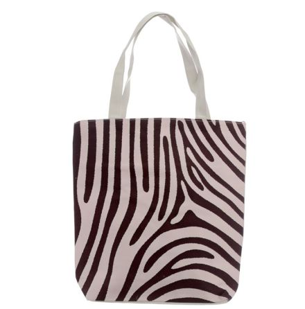 Bomullsväska Wild Life Zebra med tryck