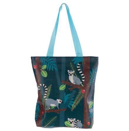 Väska Lemur med dragkedja & foder