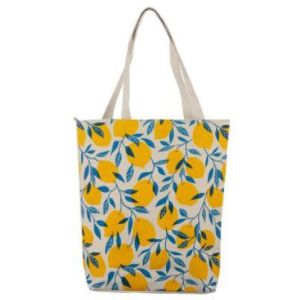 Shopping Bag Citrus med Dragkedja och Foder