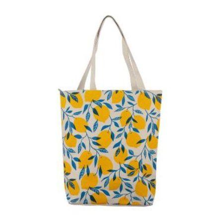 Shopping Bag Citrus med Dragkedja och Foder